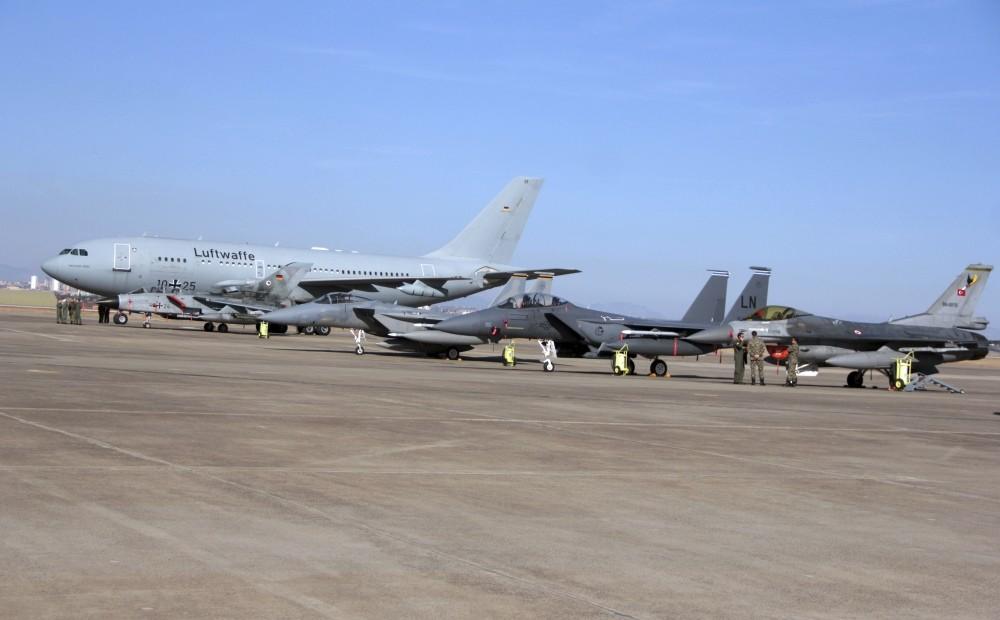German aircrafts seen at the Incirlik Air Base near Adana, Turkey.