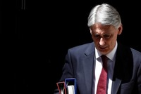 UK Finance Minister Hammond says will resign if Johnson becomes PM