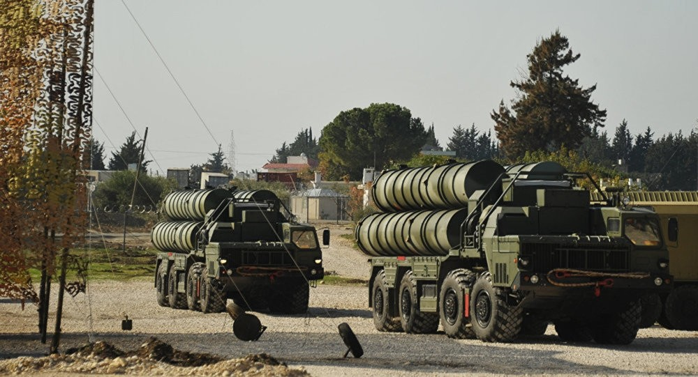 Batteries of S-400 missiles that Turkey plans to buy from Russia.