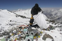 Mount Everest, the high-altitude garbage dump