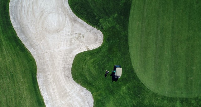 An aerial view of a golf course in Antalya's Belek Region, which draws 120,000 people from Europe, Asia and the U.S. on an annual basis.