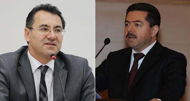 Members of Constitutional Court Alparslan Altan (L) and Erdal Tercan (R)