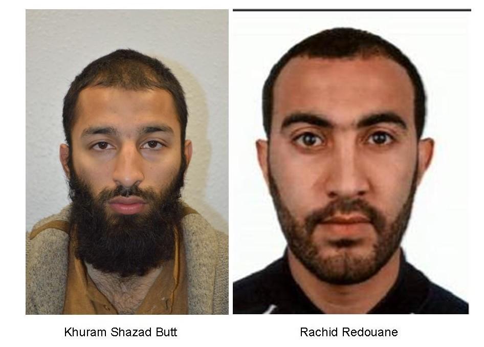Khuram Shazad Butt (L) and Rachid Redouane