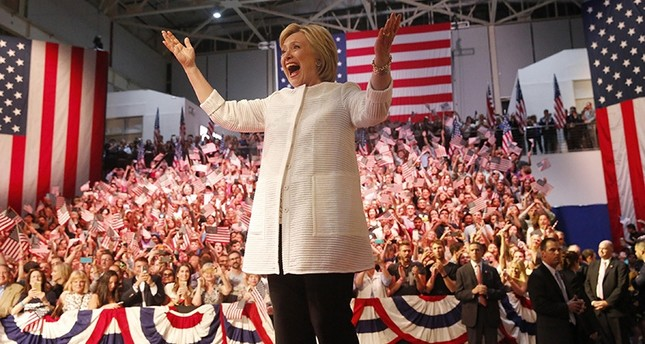 Hillary Clinton reacts as she arrives to speak to supporters at her California presidential primary night rally in Brooklyn, New York, June 7, 2016 (Reuters)