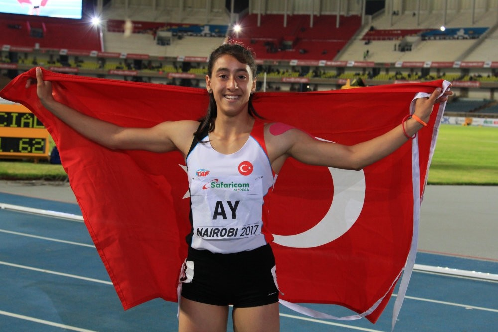 Mizgin Ay, who ran the 100-meter final at the World Star Athletics competition in Kenya last July, became the first Turkish female sprinter to earn a gold medal in the Girlsu2019 100-Meter Finals.