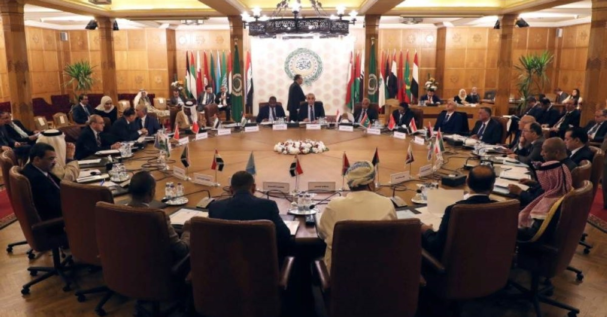 Permanent representatives of the Arab League at an emergency meeting to discuss Turkey's plans to send troops to Libya, in Cairo, Egypt, Dec. 31, 2019. (Reuters Photo)