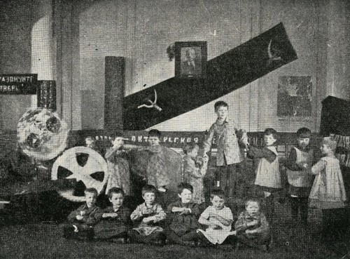 """A still from the film """"The Fourth Unit,"""" Sovkino,1928."""