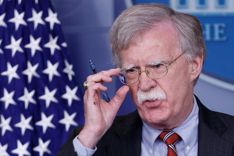 U.S. National Security Adviser John Bolton responds to a question from the news media during the daily briefing at the White House in Washington, D.C., U.S., Aug. 2, 2018. (EPA Photo)