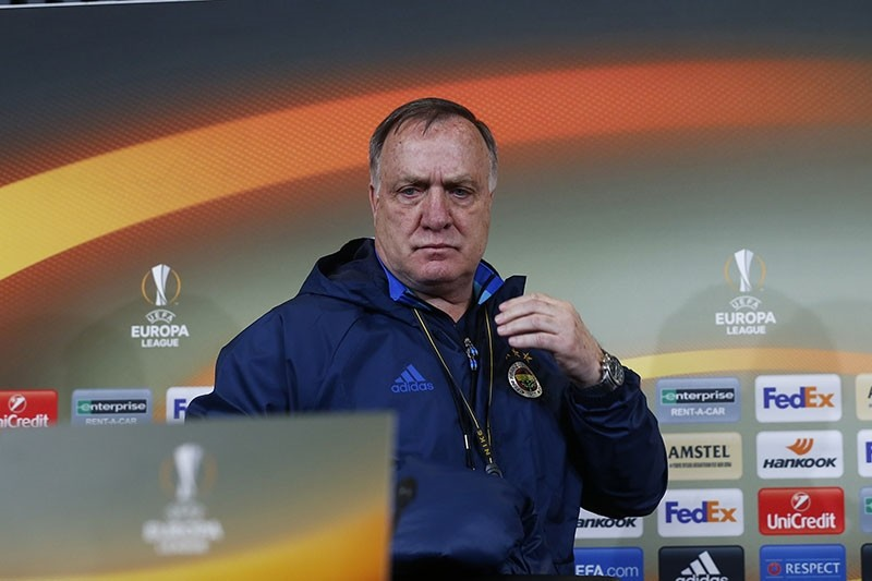 Fenerbahu00e7e coach Dick Advocaat holds a press conference prior to the UEFA Europa League match against Russia's Krasnodar on Feb. 02, 2017. (AA Photo)
