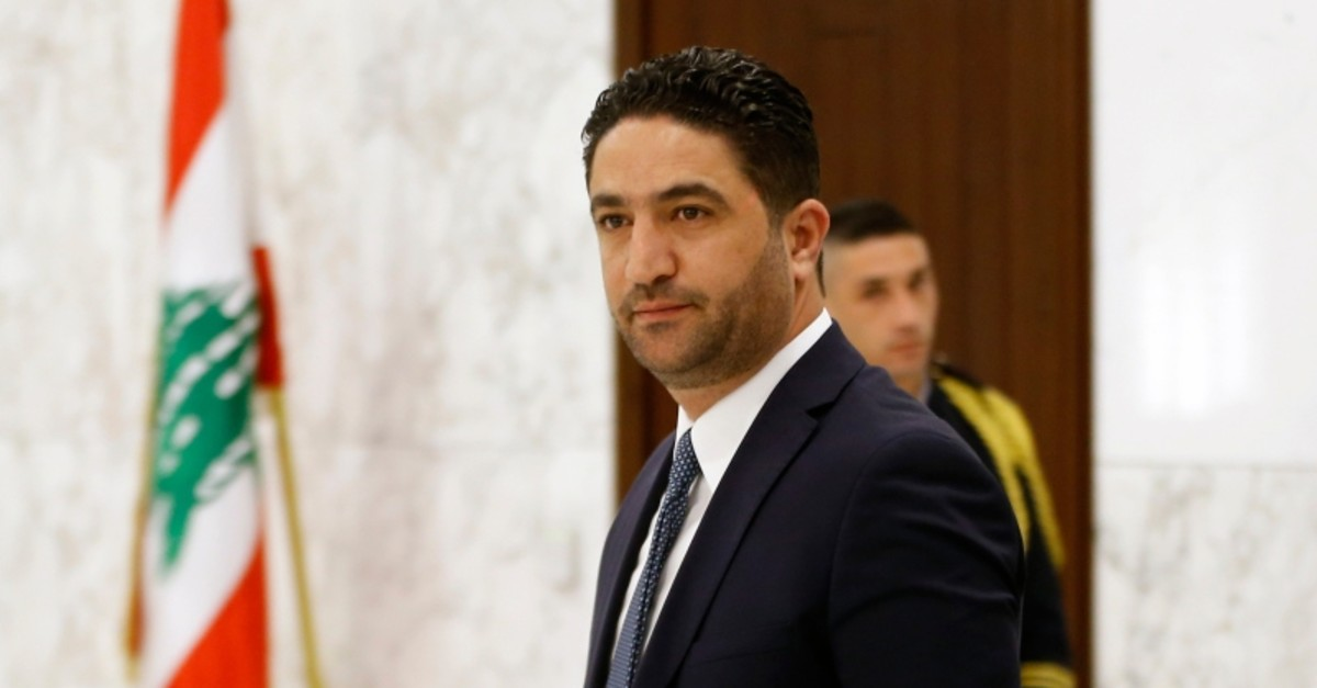 This Feb 2, 2019 photo, shows Minister of State for Displaced Affairs Saleh al-Gharib arriving to attend a meeting of the Lebanese cabinet at the Presidential Palace in Baabda, east of Beirut, Lebanon. (AP Photo)