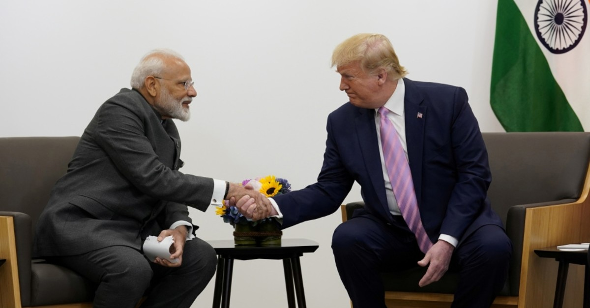 U.S. President Donald Trump attends a bilateral meeting with India's Prime Minister Narendra Modi during the G20 summit, Osaka, June 28, 2019.