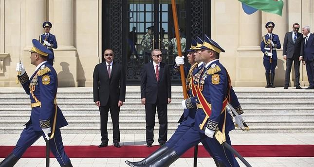 مراسم رسمية لاستقبال أردوغان في العاصمة الأذربيجانية باكو