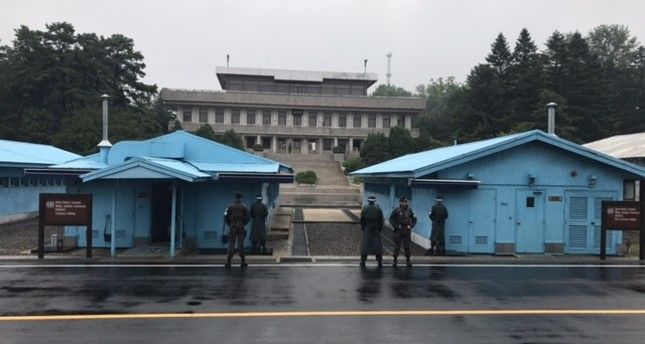Panmunjom from the South Korean side of the Demilitarized Zone, July 8, 2017. (Photo by Merve Şebnem Oruç)