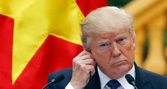 In this Nov. 12, 2017, file photo, U.S. President Donald Trump attends a press conference at the Presidential Palace in Hanoi, Vietnam. (AP Photo)
