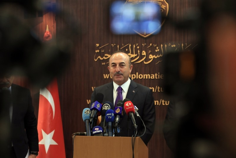 Foreign Minister Mevlu00fct u00c7avuu015fou011flu attends joint news conference with Tunisian counterpart on Monday Dec. 25, 2018 (AA Photo)