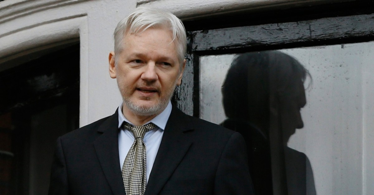 In this Feb. 5, 2016 file photo, WikiLeaks founder Julian Assange speaks from the balcony of the Ecuadorean Embassy in London (AP File Photo)