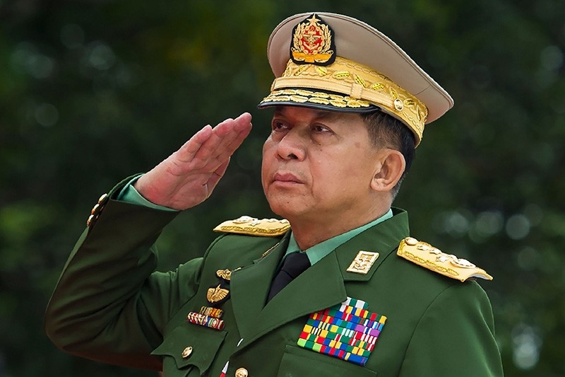 This file photo taken on July 19, 2018, shows Myanmar's Chief Senior General Min Aung Hlaing, commander-in-chief of the Myanmar armed forces. (AFP Photo)