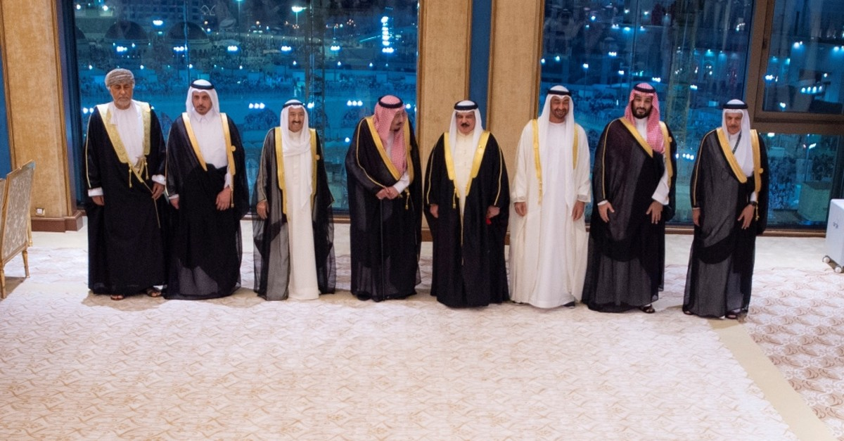The Gulf Cooperation Council (GCC) leaders pose for a photo, Mecca, May 30, 2019.