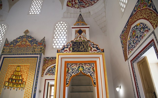 The interior of Alaca Mosque, Foca, Bosnia-Herzegovina.