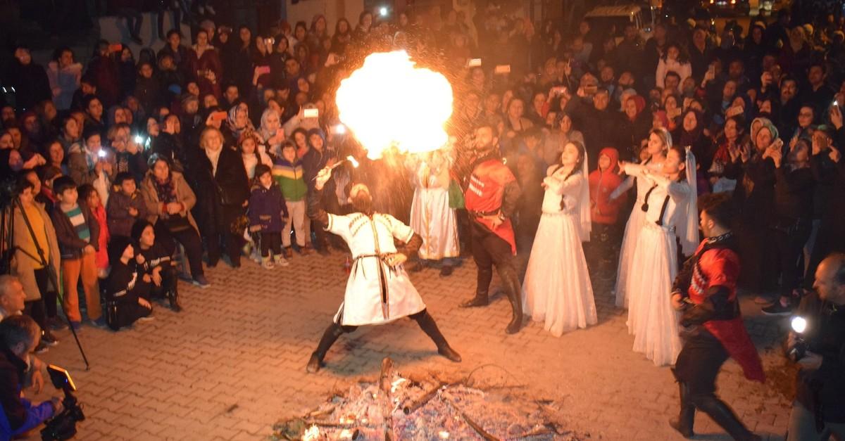Nevruz celebrations in Iu011fdu0131r, Turkey.