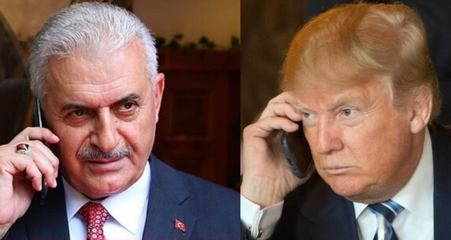 PM Yıldırım congratulates Trump over US election win, discusses boosting ties