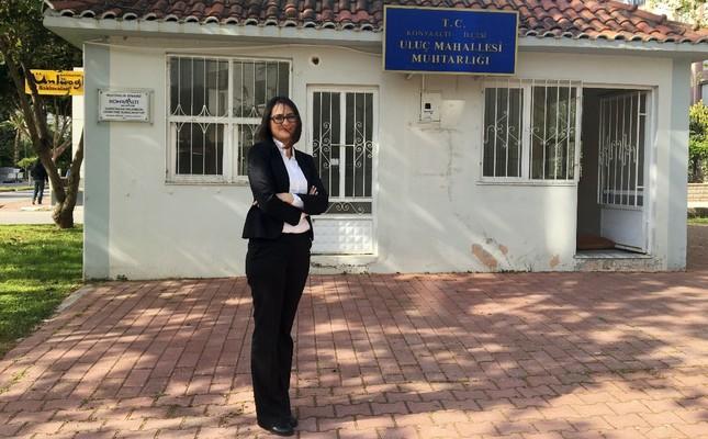 Hülya Bozkurt achieved electoral success in the Uluç neighborhood of southern Antalya province, April 12, 2019.