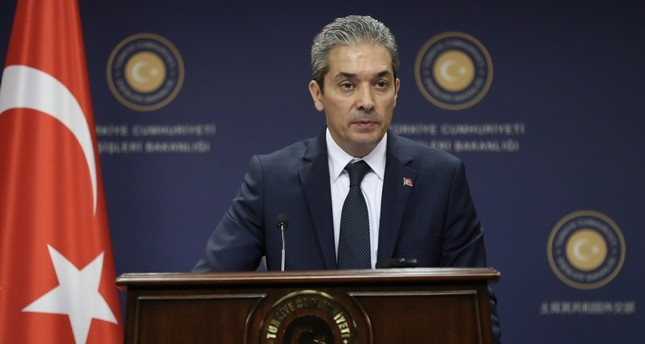 Turkish Foreign Ministry Spokesperson Hami Aksoy. (File Photo)