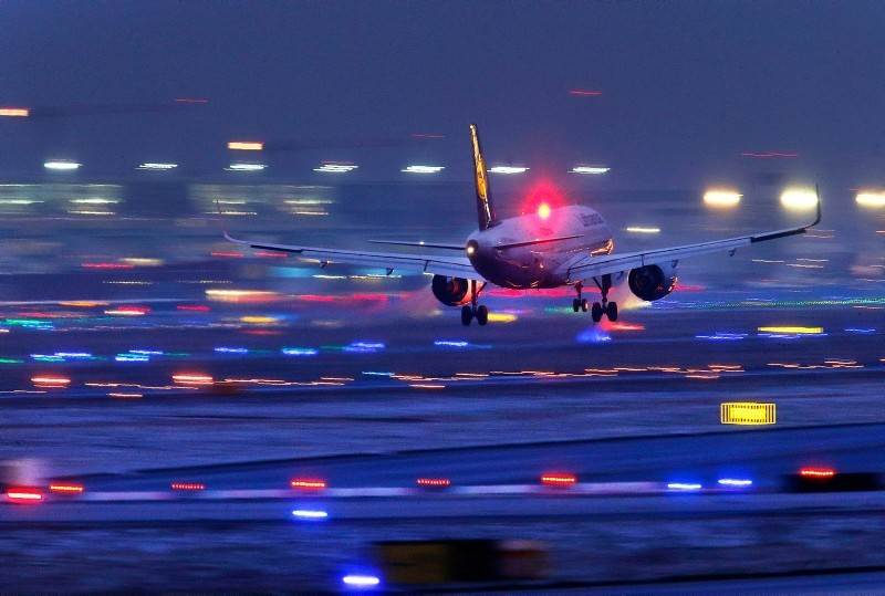 In this Sunday, Feb. 4, 2018, file photo a Lufthansa aircraft prepares to land at the International Airport in Frankfurt, Germany. (AP Photo)