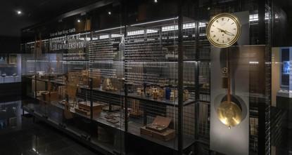 Ottoman master's clock on display at Pera Museum