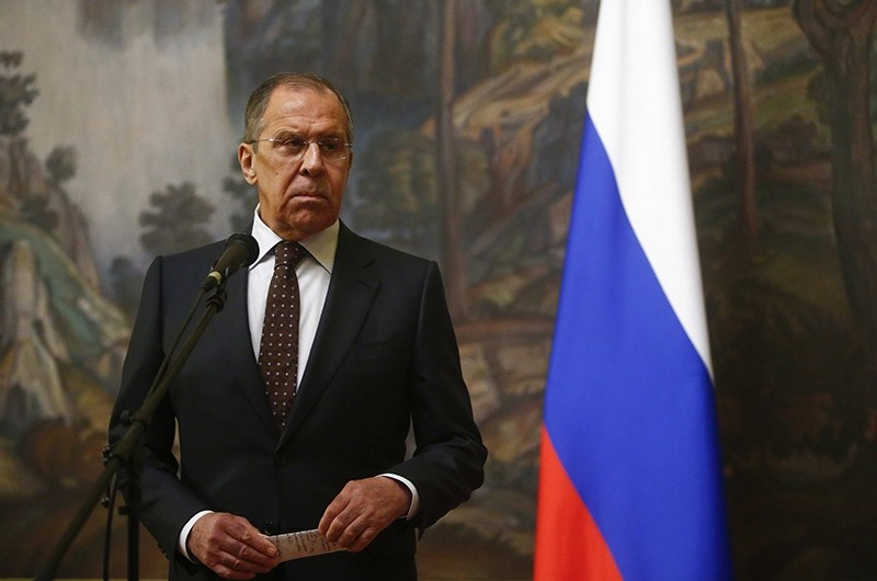 Russian Foreign Minister Sergei Lavrov attends a news conference after a meeting with his Indonesian counterpart Retno Marsudi in Moscow, Russia March 13, 2018. (Reuters Photo)