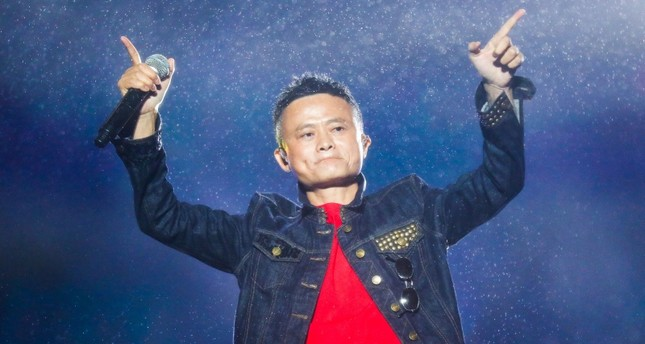 This file photo taken on October 11, 2017 shows Jack Ma, Alibaba Group founder and executive chairman, gesturing during the Music Festival of the Computing Conference 2017 in Hangzhou in China. (AFP Photo)