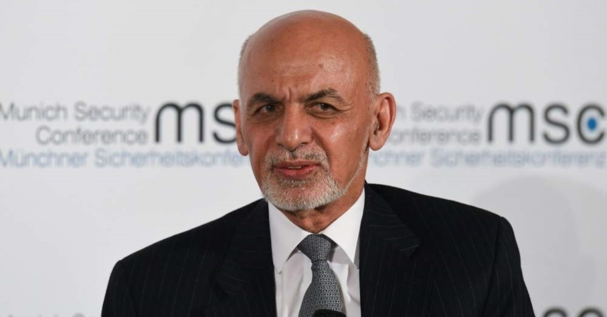Afghanistan President Ashraf Ghani takes part in a panel discussion during the 56th Munich Security Conference (MSC), Munich, Feb. 15, 2020. (AFP Photo)