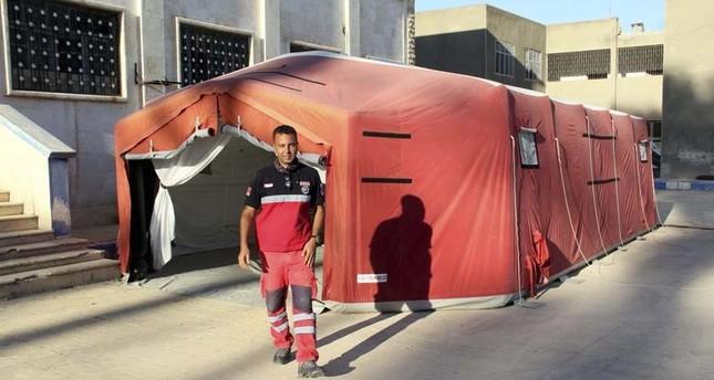 وزارة الصحة التركية تنشأ خيمةً طبية في جرابلس السورية