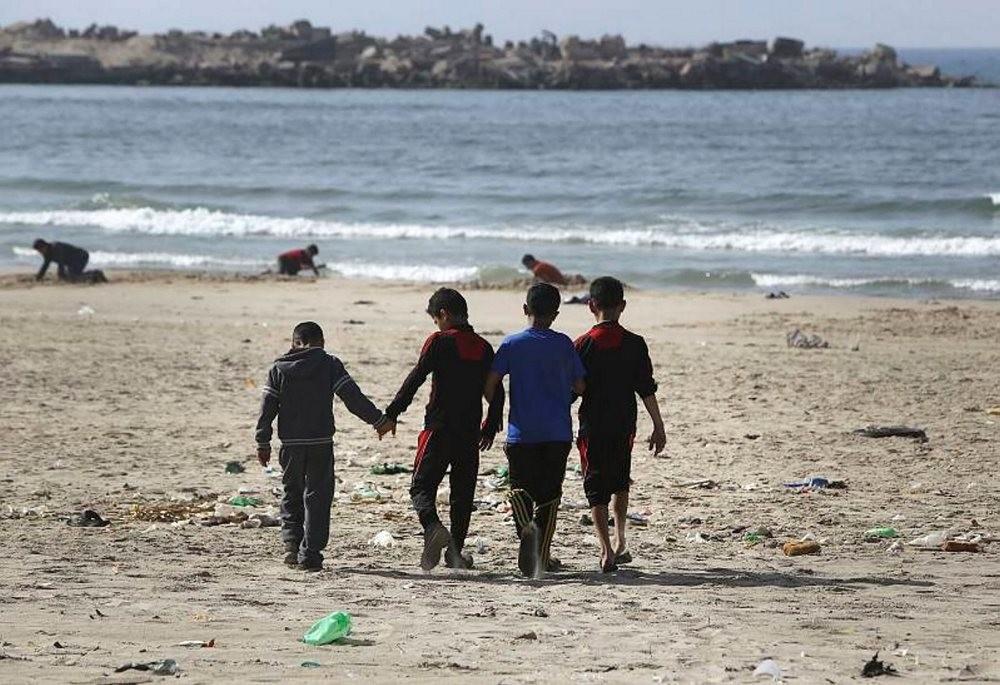 The Israeli strike killed four Palestinian children playing soccer on Gaza Beach, July 16, 2014.