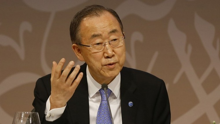 United Nations Secretary General Ban Ki-moon, April 12, 2015 (AFP Photo)