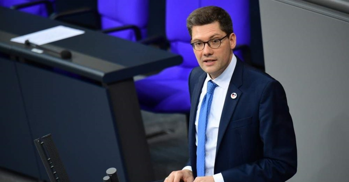 Federal Government Commissioner for the New Federal States Christian Hirte speaks during a session of the German parliament Bundestag on the status of the report of the German Unity in Berlin, Germany, Sept. 27, 2019. (EPA Photo)