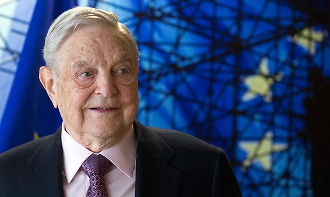 This April 27, 2017 file photo shows George Soros, Founder and Chairman of the Open Society Foundation, before the start of a meeting at EU headquarters in Brussels. (AP Photo)