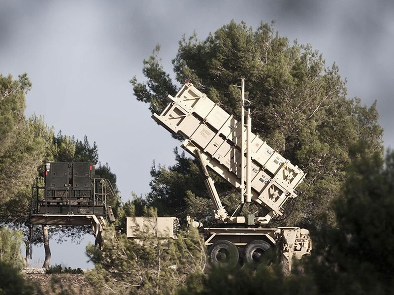 This undated file photo shows a Patriot surface-to-air missile battery deployed on Mount Carmel, Haifa, Israel. (EPA Photo)