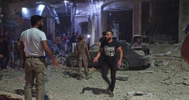 قصف جوي روسي على مدينة الباب السورية