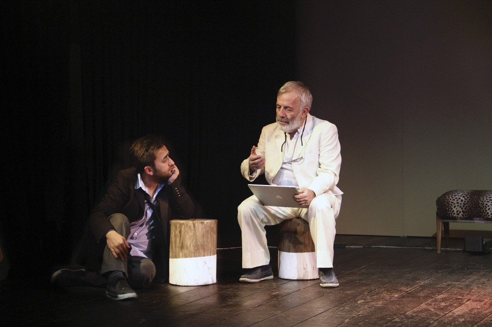 Ulvi Alacakaptan said they employ different theater languages, and the play is both entertaining and thought-provoking.