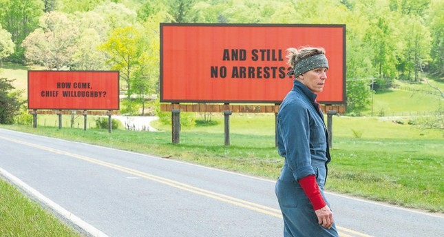 Image from the film Three Billboards Outside Ebbing, Missouri.