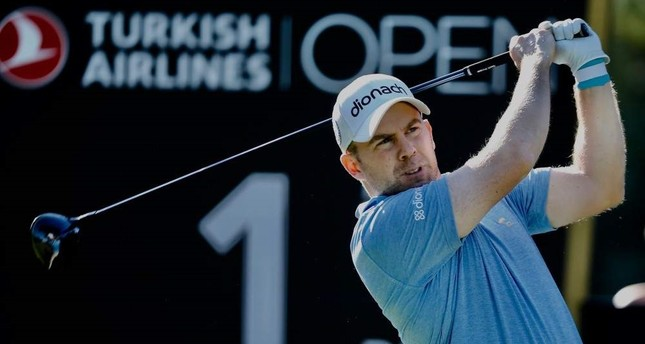 Justin Harding watches the ball after his shot during the Turkish Airlines Open, Antalya, Turkey, Nov. 7, 2019 (AA Photo)