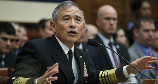 U.S. Pacific Command Commander Adm. Harry Harris Jr. testifies on Capitol in Washington, Wednesday, April 26, 2017, before a House Armed Services Committee hearing on North Korea. (AP Photo)