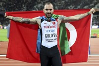 Ramil Guliyev, a Turkish world champion sprinter, is among the nominees for 2017's European Athletics Golden Tracks awards. Guliyev, who is originally from Azerbaijan but competes for Turkey,...