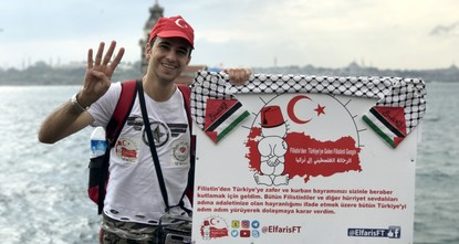 pPalestinian activist Aladdin al-Fares started a walk from Istanbul to capital Ankara on Friday./p  pAl-Fares says his march is a sign of gratitude of Palestinians for Turkey's support to their...