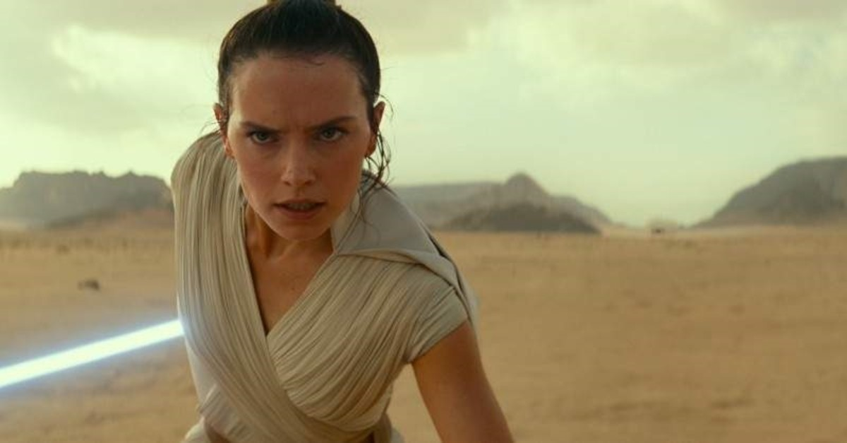 This image released by Disney/Lucasfilm shows Daisy Ridley as Rey in a scene from ,Star Wars: The Rise of Skywalker., (AP Photo)