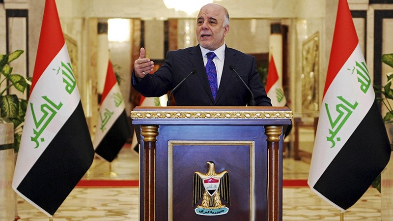 Iraqi premier-designate Haider al-Abadi speaks at his first press conference since accepting the nomination to be Iraqu2019s next prime minister, in Baghdad, Iraq, Monday, Aug. 25, 2014. (AP Photo)
