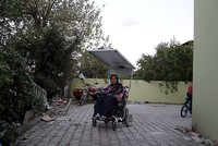 Man builds solar-powered wheelchair for sick wife in Turkey's Hatay