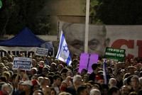 Tens of thousands protest proposed Netanyahu immunity bill