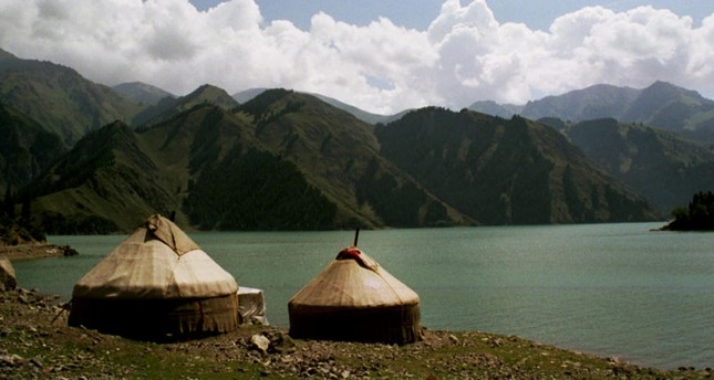 Two replica tents created in the style of the nomad Turks of Central Asia.